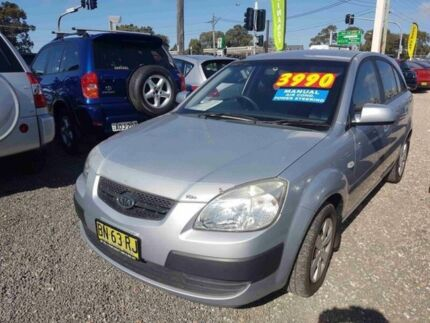 2008 Kia Rio JB LX Silver 5 Speed Manual Hatchback