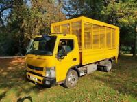 2014 14 MITSUBISHI FUSO CANTER 3.0 7C15 34 148 BHP FUSO - CAGED TAIL LIFT DIESEL