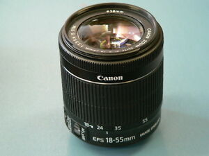 Canon EF-S 18-55mm f/3.5-5.6 IS STM Lens (used 3x - like new)