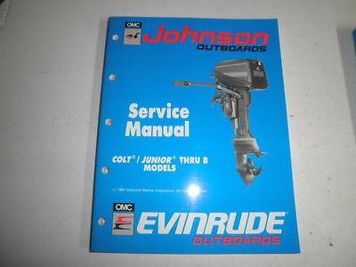 1990 johnson evinrude factory service manual colt junior thru 8  hp outboard