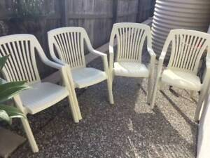 White Moulded Plastic Garden Chairs Other Garden Gumtree