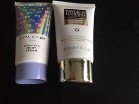 2 body creams - 50p for both!