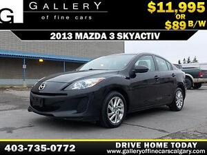 2013 Mazda3 SkyActiv $89 bi-weekly APPLY TODAY DRIVE TODAY