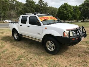 2002 Nissan Navara D22 ST-R (4x4) White 5 Speed Manual Dual Cab Pick-up Clontarf Redcliffe Area Preview