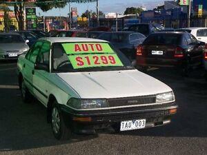 1990 Toyota Corolla AE92 CS White 3 Speed Automatic Sedan Nailsworth Prospect Area Preview
