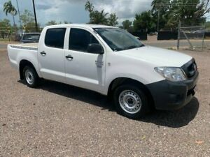 2009 Toyota Hilux Workmate White 5 Speed Manual Dual Cab Holtze Litchfield Area Preview