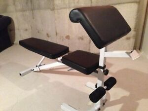 York Adjustable Weight Bench with Preacher Curl Attachment
