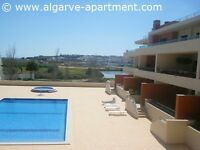 Western Algarve, Meia Praia apartment, holiday home to let overlooking large shared pool