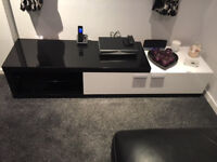 Barker And Stonehouse High Gloss TV Stand/Entertainment Unit