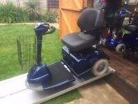 Huge Heavy Duty Sterling 3 Wheel Mobility Scooter 18 Stone Capacity Any Terrain New Batteries