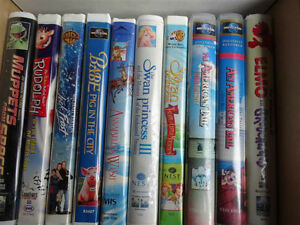 Various Children and Adult DVDs and VHSs