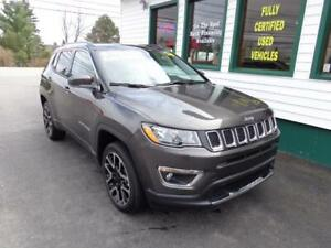 2018 Jeep Compass Limited 4x4 for only $244 bi-weekly all in!