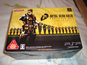 PSP METAL GEAR SOLID PORTABLE OPS PREMIUM PACK NEW