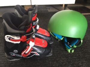 Youth Nordica Fire Arrow Ski Boots and Helmet