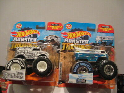 HOT WHEELS MONSTER TRUCKS NEW FOR 2020 DRAG BUS & RING MASTER