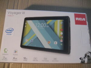 tablet, rca voyager III tablet, brand new, 7 inch display, 16 GB