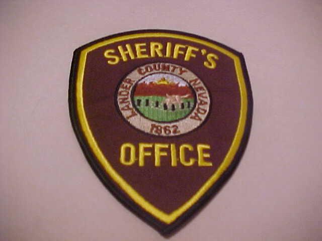 LANDER COUNTY NEVADA  POLICE PATCH SHOULDER SIZE UNUSED