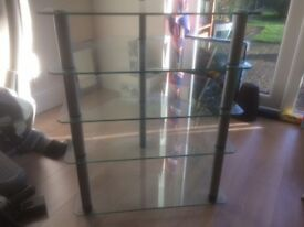 Alphason glass and metal hifi stand