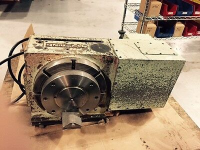 Tanshing Rotary Table With Tail Stock Hydraulic Break Mrnc-320 Mrnc320 Used