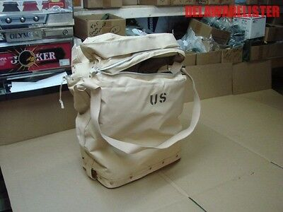 *US Military Tan Insulated Canvas Jerry Can Water Case Pack Shoulder Bag Cooler