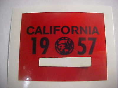 1957 california license plate registration yom sticker for the 1956 plates