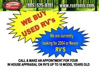 WE BUY USED RV's