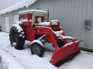 Massey Ferguson 165 with plow