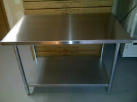 **TRUCKLOAD SALE** STAINLESS STEEL WORK TABLES/SHELVES/SINKS