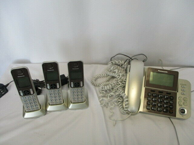 Panasonic KX-TGF353N Digital Corded with 3 Cordless Handsets Answering System