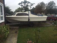 Shetland 535 Cabin Cruiser - 18ft Long - Can Deliver !!! Comes With Break Back Trailer