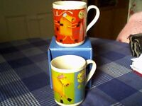 ANCHOR BUTTER MUGS x 2 CELEBRATE 75 YEARS - UNUSED