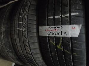 FOUR USED ALL SEASON 235-55-19 { DUNLOP } R.H AUTO