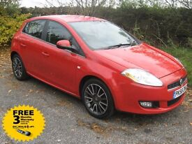 2008 58-reg Fiat Bravo 1.4 Active 5Dr low mileage with FSH and only 2 owners from new!