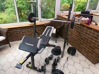 Weights bench and weights