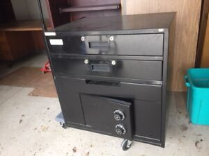 Black safe with dual combination lock