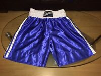 Large Shiny Blue FARABI Boxing Shorts