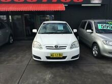 2005 Toyota Corolla ZZE122R Ascent Seca White 4 Speed Automatic Hatchback Cardiff Lake Macquarie Area Preview