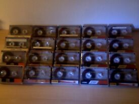 TDK D C90 CASSETTE TAPES x20 JOB LOT W/ CASES & (CLEAN) CARDS : USED ONCE ONLY. 100s more for sale.