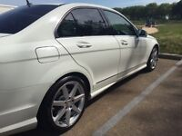 MERCEDES C class, Auto, Full Mercedes dealer service history, 2011 Facelift, White, AMG styling