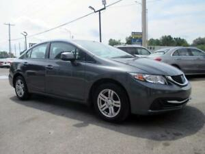 2013 Honda Civic Sdn LX  A/C MAGS CRUISE GROUPE ELECTRIQUE