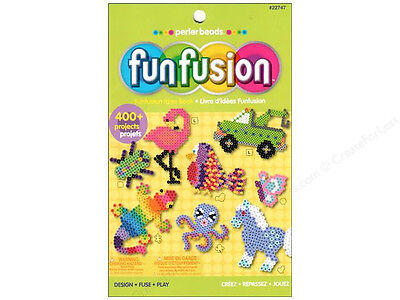 NEW Perler Beads Fun Fusion Idea Book 24 pages Over 400 Projects