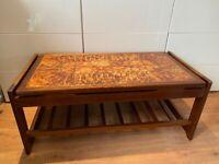 Vintage G Plan Teak Tile Top Large Wooden Coffee Table Mid Century Vintage 60's