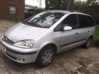 2005/05 Ford Galaxy 1.9 Tdi Zetec 7 seater, silver, privacy glass, nice tidy car, years MOT