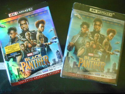 New   Black Panther    4K Ultra Hd   Blu Ray    Digital 2018  Factory Sealed