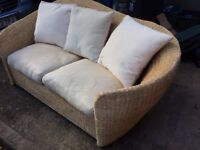 Pair of wicker sofas
