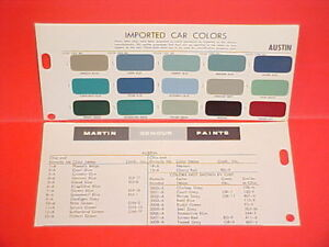1947-1966 AUSTIN A30 A35 A40 A55 A60 A70 A90 A95 A99 850 MINI COOPER PAINT CHIPS