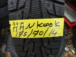 4 WINTER TIRE HANKOOK 175/70/R14 99% TREAD