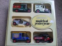 1982 LIMITED EDITION PACK OF 5 MODEL MATCHBOX MODELS OF YESTERYEAR