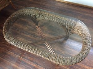 Rattan Coffee Table from Kootenai Moon