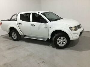 2012 Mitsubishi Triton MN MY12 GL-R Double Cab 4x2 White 5 Speed Manual Utility Mile End South West Torrens Area Preview